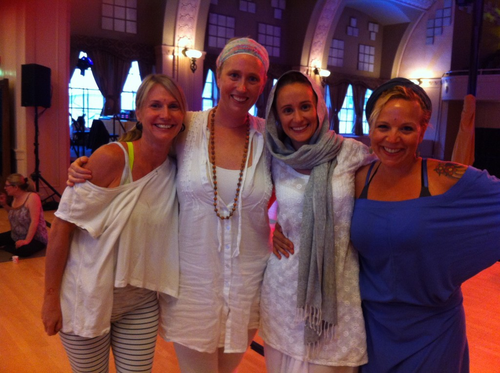 Cathy, Sukhbir, Jai-Jagdeesh and I with our post Kundalini glow.