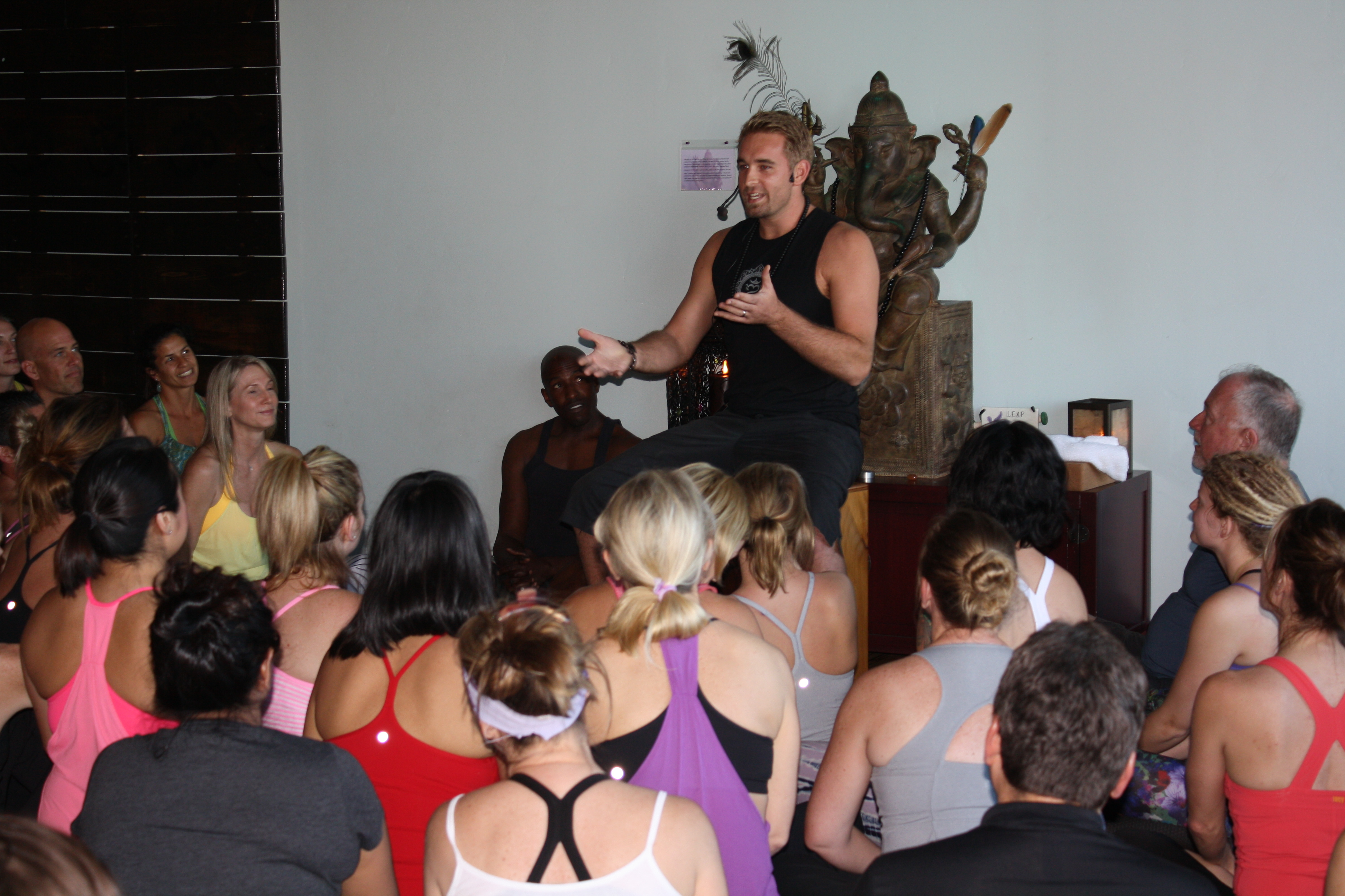 Tyler Landgale discusses the California Spirit Festival before kicking some serious asana!