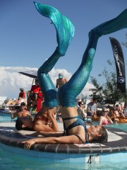 Mermaids at the Pool Party.