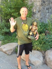 Robert & his beautiful new Hanuman statue