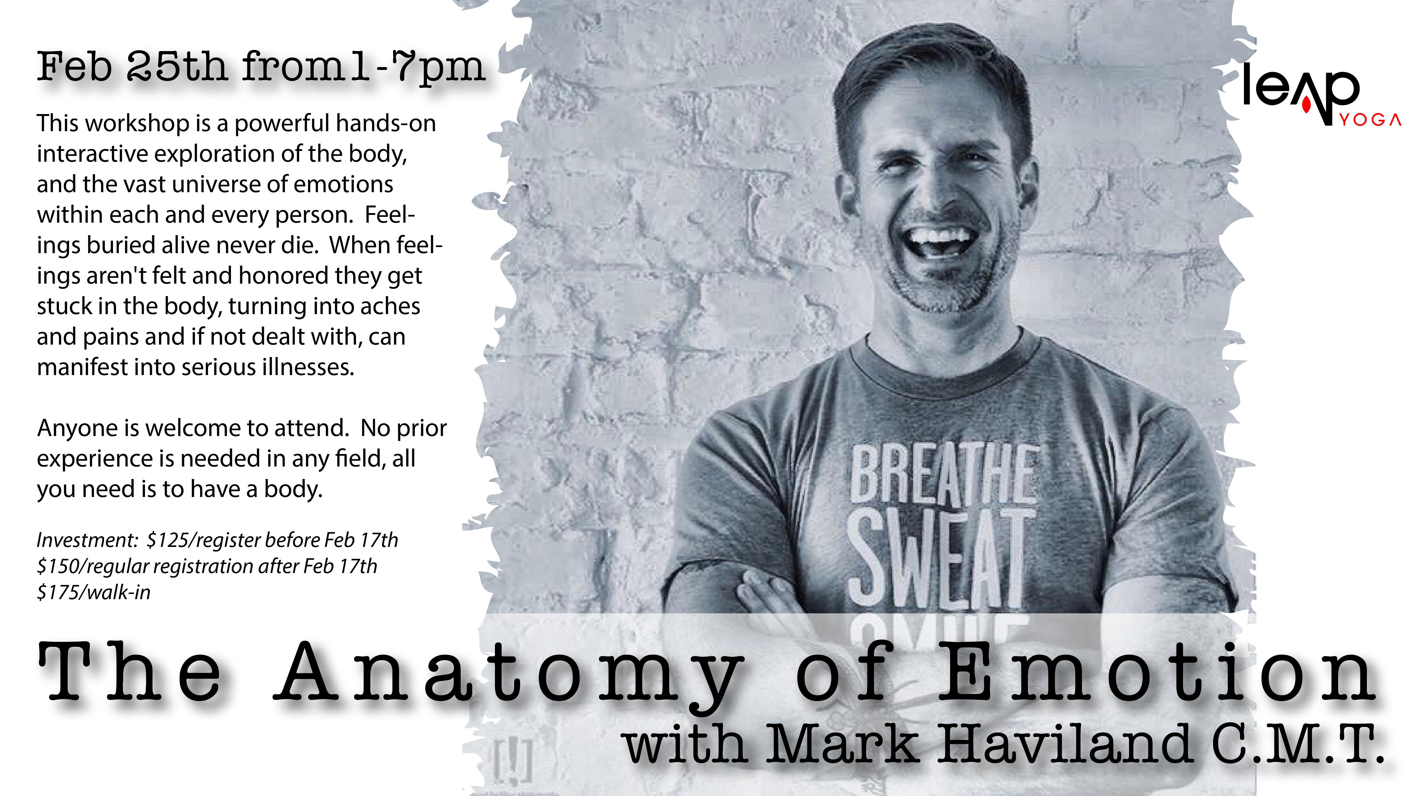 The Anatomy of Emotion with Mark Haviland C.M.T. | Leap Yoga