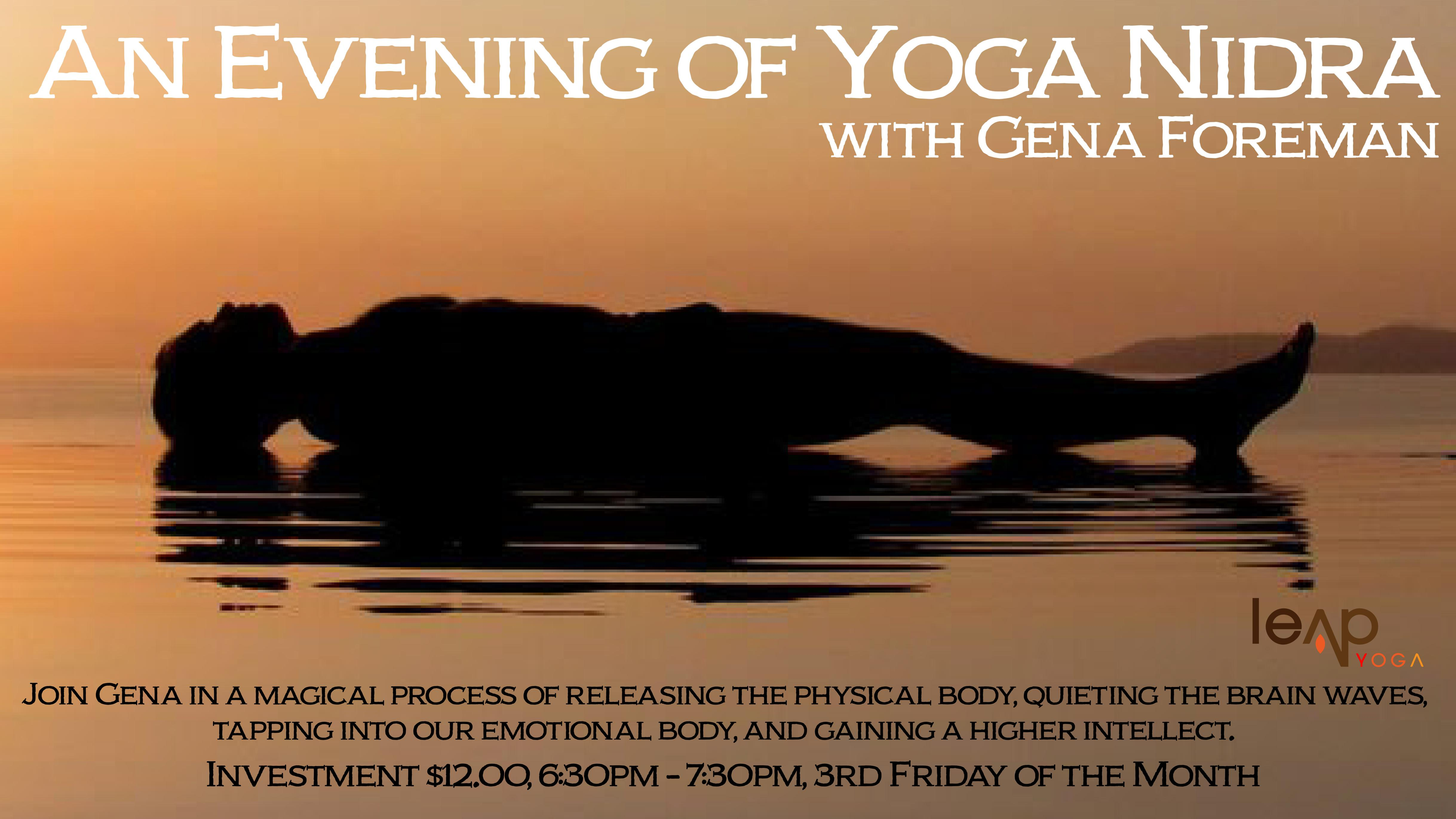 An Evening Of Yoga Nidra Guided By Gena Foreman